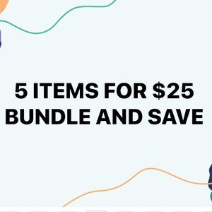 5 items for $25